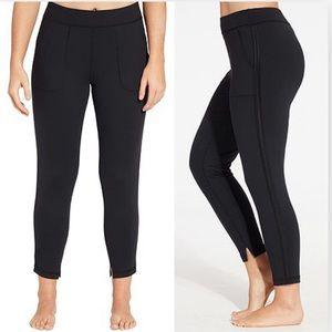 CALIA Journey Stacked Hem Pants Leggings Black Gym